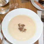 celery root soup with duck