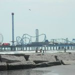 Pleasure Pier from our Hotel and beach