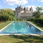 the chateau and pool(heated)