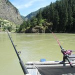 Admiring the view of the Fraser Canyon