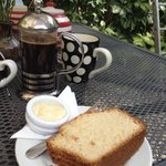 Scrumptious coffee and lemon cake