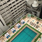 Hotel Pool from the 18th floor
