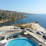 The pool and bay at ambassador