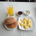 Breakfast at adjoining restaurant