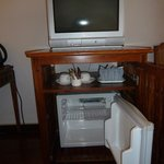 Small Fridge, old TV