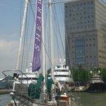 The beautiful Shearwater yacht