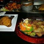 Porterhouse steak con arroz de la casa (siete de carne)