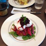 the beetroot soaked salmon ��