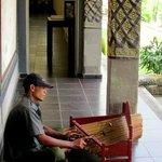 Bamboo gamelan.