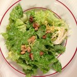 Yumy salad with a light dijon dressing.