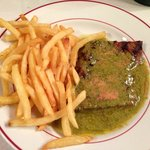 Steak and pomme frites, delicious!