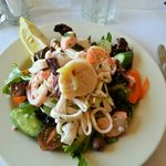 Seafood salad was fresh, complex and very tasty.  All the ingredients work in harmony.