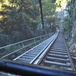 Bottom of the steepest railway incline in the world!
