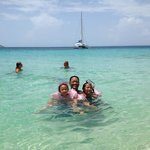 Our family enjoying the waters off Tintamarre Island