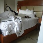 """""""Accessible"""" side of the bed from the doorway - I couldn't get my chair up to the bed."""