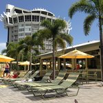 Rumrunners beach bar and pool area.