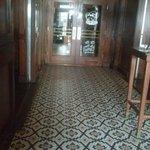 Lovely tiled entrance
