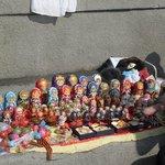Leve várias das Matryoshka, boneca russa-a sofisticação está nos personagens pintadas à mão.