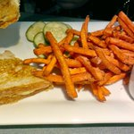 Grilled Cheese Sandwich/Sweet Potato Fries