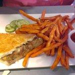 Meat Loaf Sandwich/Sweet Potato Fries