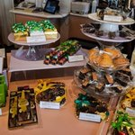 various chocolate items for sale