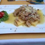 Baccalà alla vicentina con polenta