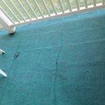Worn outdoor carpet