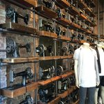 Sewing machines in a shop in Soho