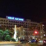 Hotel taken from main promenade where shops and bars start