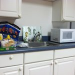 Kitchen in motel