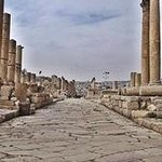 The Cardo Maximus-the colonnaded street