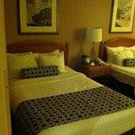 Beds that were a little sunken in