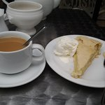lovely cup of tea and applepie with icecream