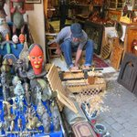 A wood craftsman in the Medina