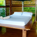 comfy bed in the bungalow