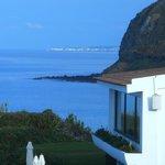 Blick vom Balkon auf Ponta Delgada