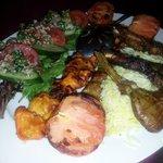 Shandiz  marinated lamb cutles, chicken and pounded lamb