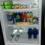 mini bar well stocked