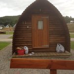The wigwam, excuse the wine glass