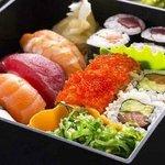 Platos de sushi.