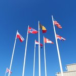 All the nation flags who were at D-Day