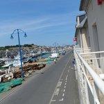 Overlooking port