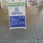 NYC Airporter Signage at airport