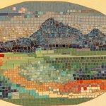 Mosaik an der Wand ,großer Balkon