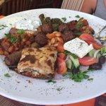 Assiette grecque pour 2 personnes