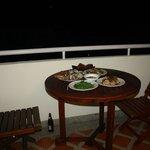 Dinner on Balcony
