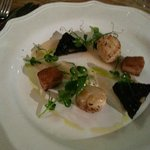 Pan Seared Scallops - Belly Pork, Black Pudding & Pear Puree — with Lynda Heaton at The Alice Ha