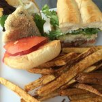 Trout Sandwich, nice presentation