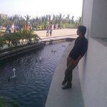 In a park of hotel coz in temple pic nikalna allowed nai hu