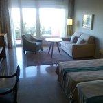 La habitación, cómoda y tranquila